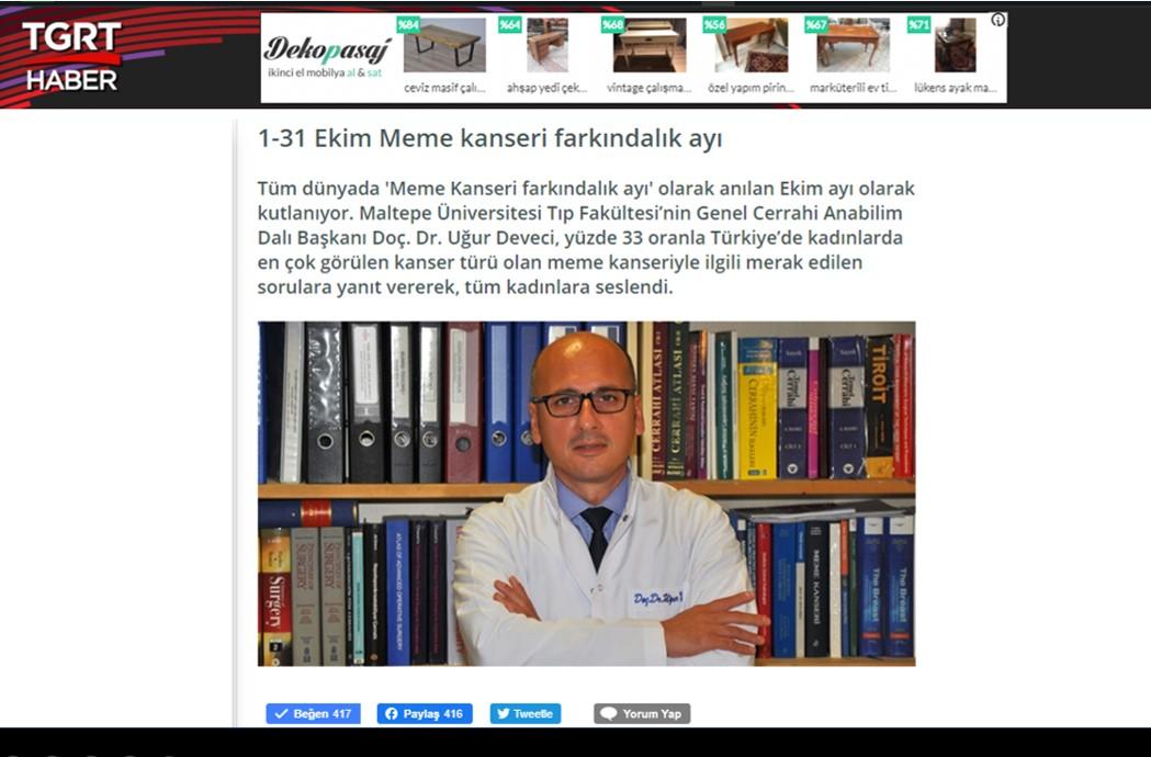 Prof.Dr. Uğur Deveci Resmi Web Sitesi